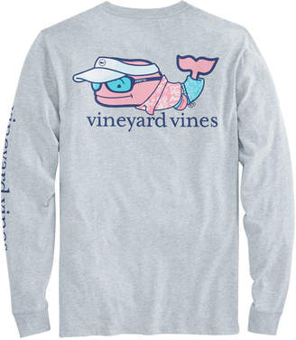Vineyard Vines Long-Sleeve Vacation Whale Pocket T-Shirt
