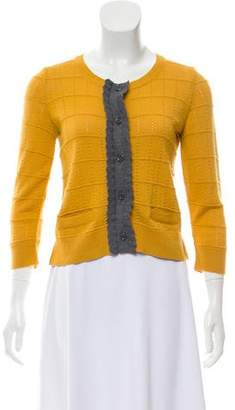See by Chloe Wool Pointelle Knit Cardigan