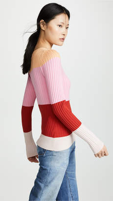 525 America Striped Crew Sweater
