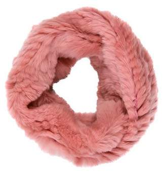 Jocelyn Knitted Fur Snood