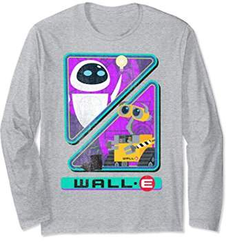 Disney Pixar Wall-E Eve Split Triangles Long Sleeve Tee