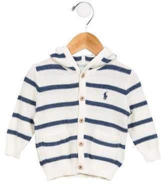 Ralph Lauren Boys' Striped Button-Up Sweater