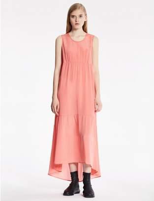 Calvin Klein sheer silk long dress