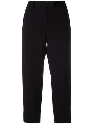 Alberto Biani flap pocket cropped trousers