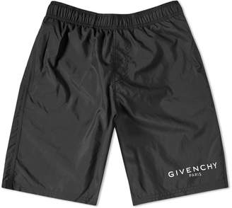 Givenchy Logo Long Swim Short