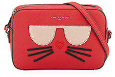 Karl Lagerfeld Paris Maybelle Saffiano-Leather Crossbody Bag with Choupette Cat Face