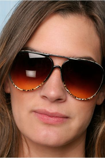 Leopard Shell Sunglasses