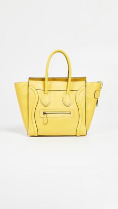 Celine What Goes Around Comes Around Yellow Medium Luggage Micro Bag