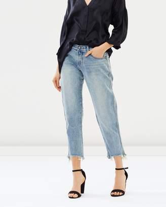 One Teaspoon Awesome Baggies High-Waisted Straight Leg Jeans
