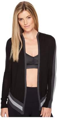 Blanc Noir Hooded Wrap Cardigan Women's Sweater