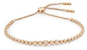 Saks Fifth Avenue Diamond & 14K Rose Gold Slider Bracelet