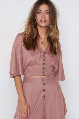 Nasty Gal Float Round Here Shirred Top