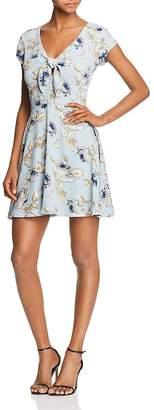 Aqua Tie Detail Floral Print Dress - 100% Exclusive