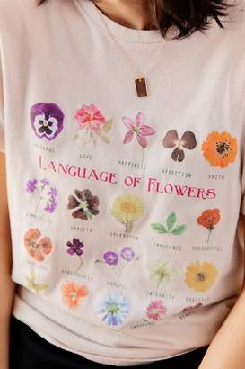 Urban Outfitters Language Of Flowers Chart Tee