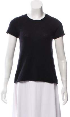 Calvin Klein Collection Short Sleeve Cashmere Sweater