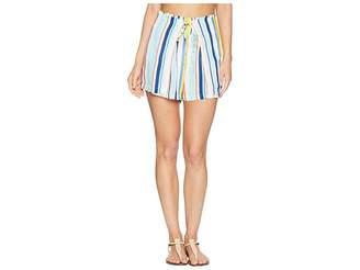 Nanette Lepore Amalfi Coast High-Waist Wrap Shorts Cover-Up Women's Swimwear