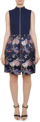 Ted Baker Bobyd Zip-Front Jacquard Dress