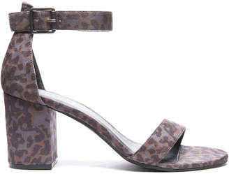 Coconuts by Matisse Sashed Leopard Print Stacked Heel