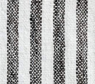 Pottery Barn Kids Fabric By The Yard: Vintage Stripe Black/White