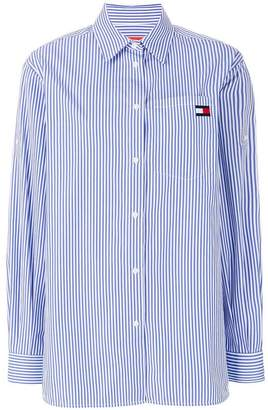 Tommy Hilfiger striped logo shirt