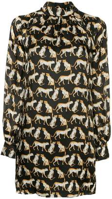 Milly (ミリー) - Milly leopard print mini silk dress