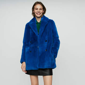 Maje Cropped fur coat