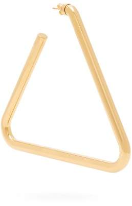 Balenciaga Triangle Hoop Single Earring - Womens - Gold