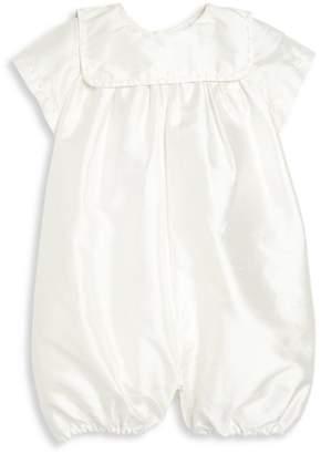 Isabel Garreton Baby Boy's Charming Silk Christening Romper