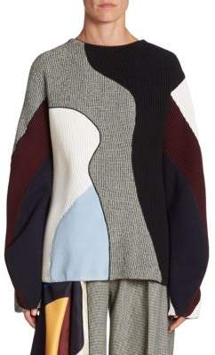 Victoria Beckham Wool Colorblock Sweater