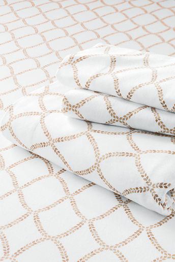 Lands' End 5-oz Flannel Lattice Foliage Print Pillowcases (Set of 2)