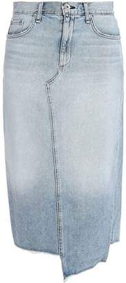 Rag & Bone Sakato Asymmetric Frayed Denim Skirt