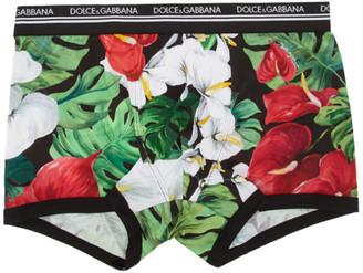 Dolce & Gabbana Multicolor Floral Anthurium Boxer Briefs
