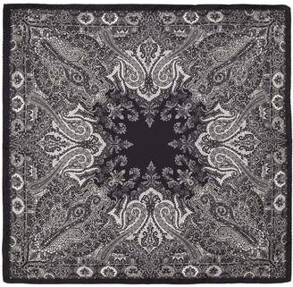 Etro Paisley Printed Silk Pocket Square