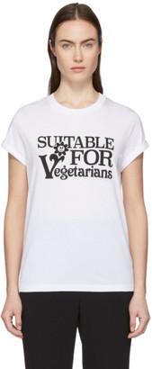 Stella McCartney White Suitable For Vegetarians T-Shirt
