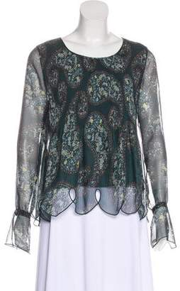 See by Chloe Printed Long Sleeve Blouse