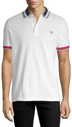 Fred Perry Men's Contrast Pique Cotton Shirt