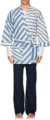 Barneys New York Men's Striped Cotton Poplin Kimono