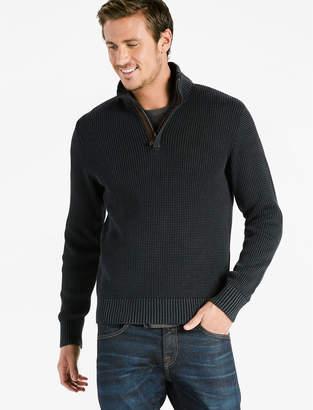 Lucky Brand Half Zip Mock Neck Sweater