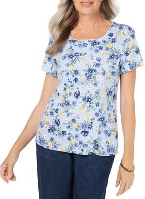 Karen Scott Petite Citrus Printed T-Shirt