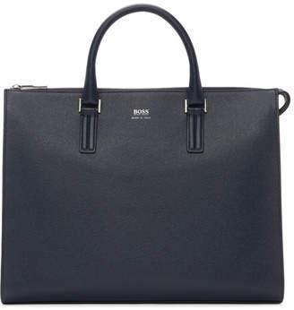 BOSS Navy Large Signature Slim Briefcase
