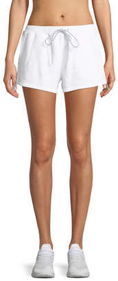 The Upside Holm Fleece Track Short with Logo Trim