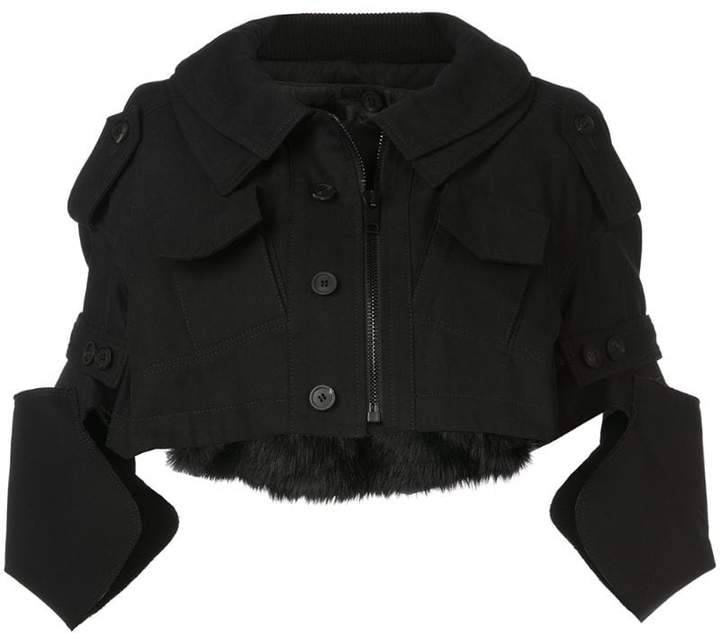Vera Wang cropped military jacket