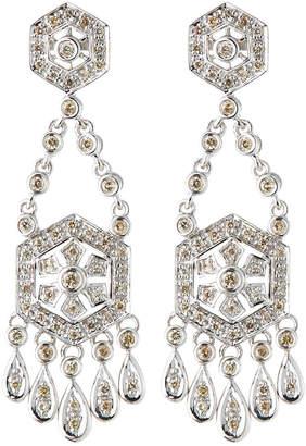 Sydney Evan 14k White Gold Diamond Chandelier Earrings