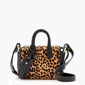 J.Crew The Harper mini satchel in Italian leather and calf hair