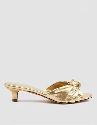 Mari Giudicelli Jeanne Metallic Knot Sandal