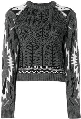 Diesel Black Gold cropped patterned sweater
