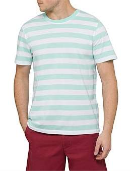 David Jones Block Stripe Short Sleeve Top