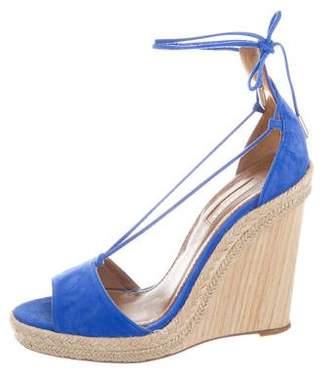Aquazzura Mirage Wedge Sandals