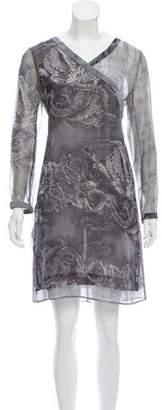 Kenzo Dragon Print Silk Dress