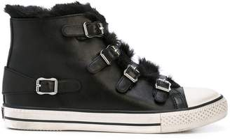 Ash Valko buckled hi-top trainers